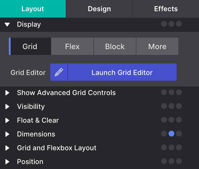 How to launch the Grid Editor Dialog